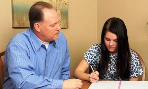 1-on-1 tutoring, young girl