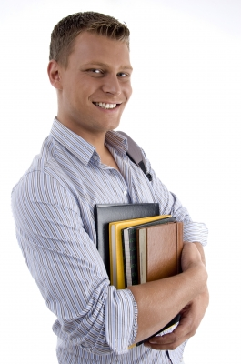 College Guy with Books