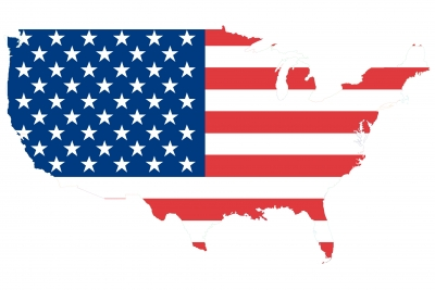 Flag Map of USA