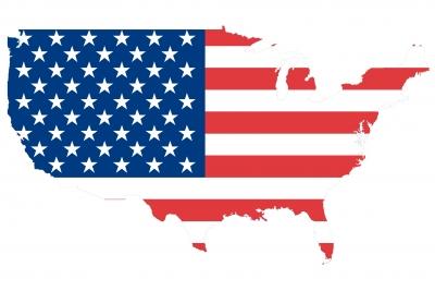 Flag Map of USA