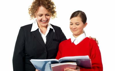 Teen and Teacher