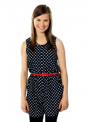 teen girl, polka dot