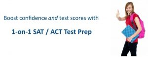 1 on 1 SAT and ACT test prep
