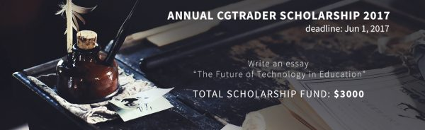 CGTrader College Scholarship 2017