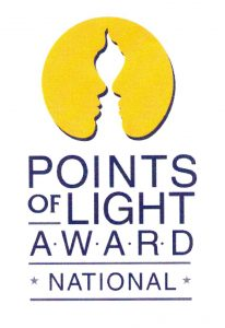 Daily Points of Light community service award