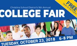 Christina School District Will Host 9th Annual College Fair on October 23