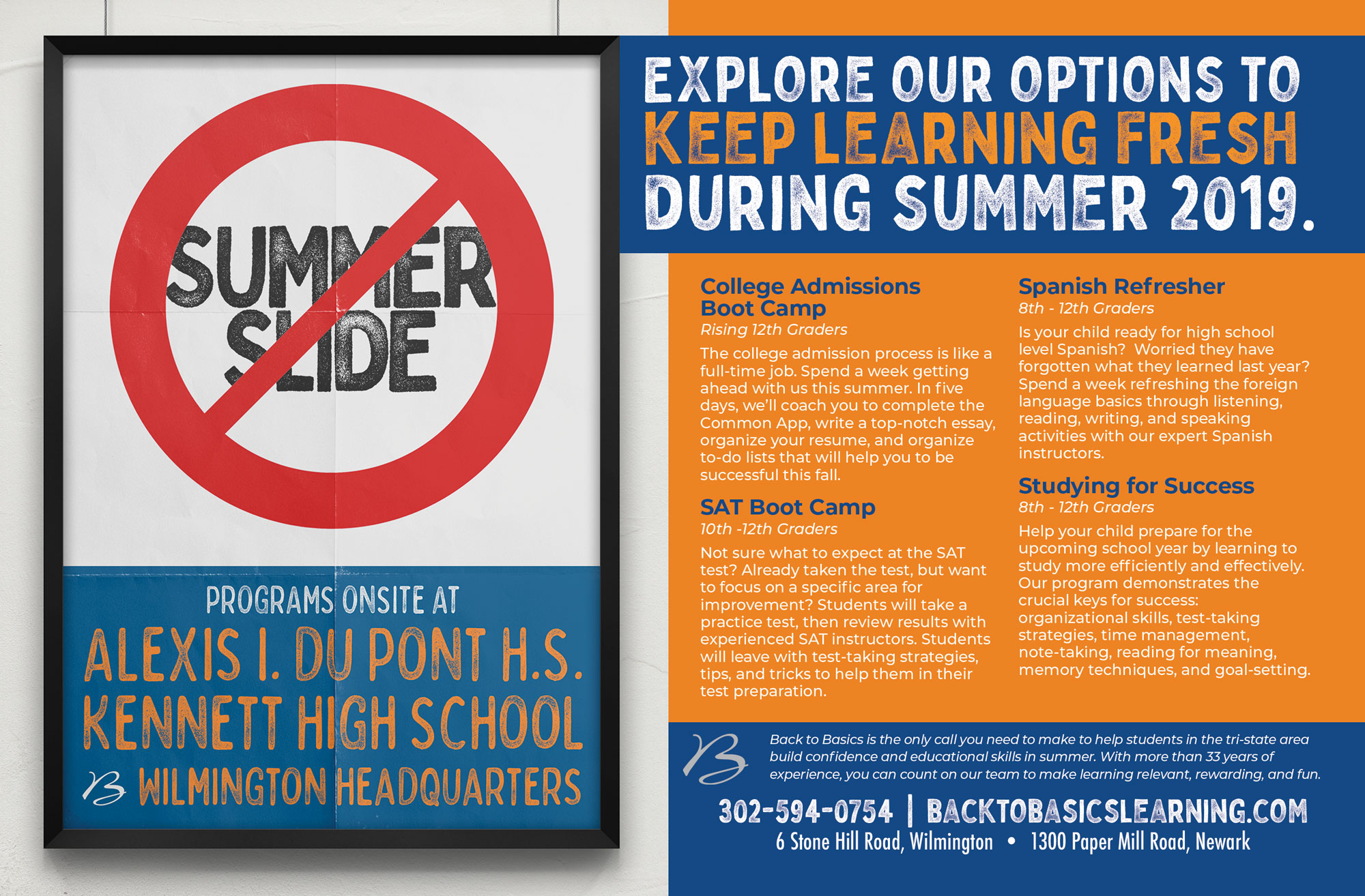 Stop Summer Slide in 2019! | Back to Basics Learning Wilmington