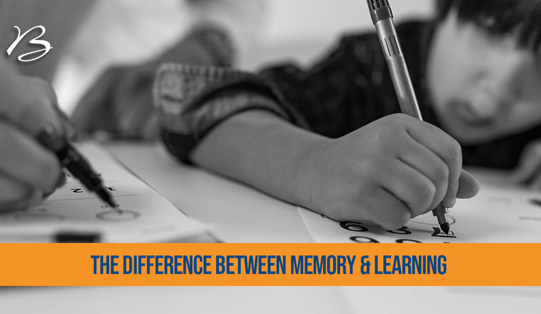 What is the difference between memory and learning?