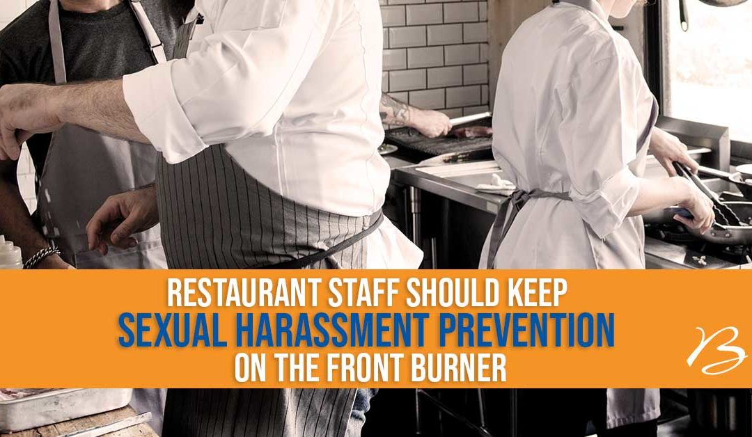 Restaurants should keep sexual harassment prevention on the front burner