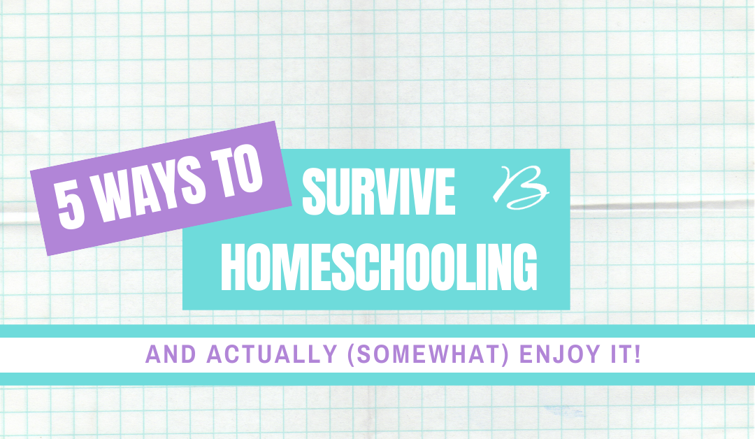 5 Ways to Survive Homeschooling – And Actually (Somewhat) Enjoy it!
